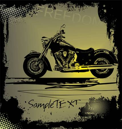 grunge motorbike background Stock Vector - 11662518