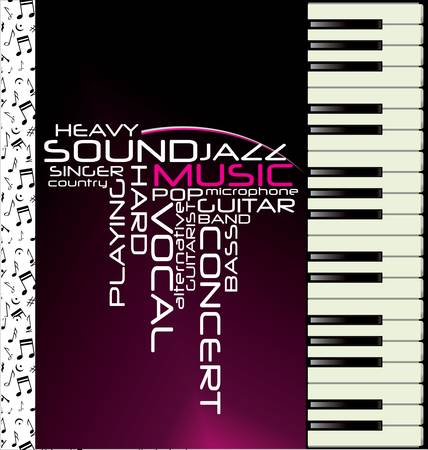 Music purple piano background Stock Vector - 11662502