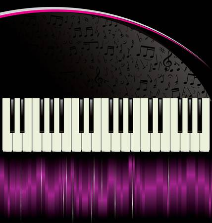 black piano: Piano - purple background