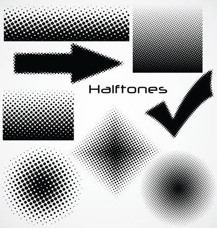 halftone dots: halftone dot - set for your design Illustration