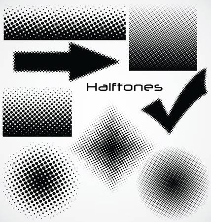 tones: halftone dot - set for your design Illustration