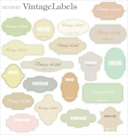 art product: Vintage labels