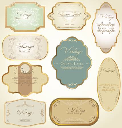 art nouveau frame: Vintage labels
