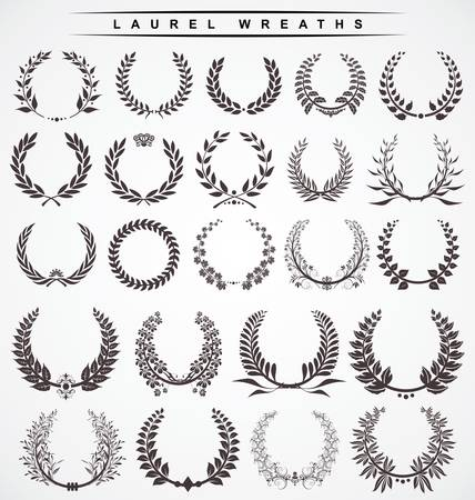 olive wreath: coronas de laurel