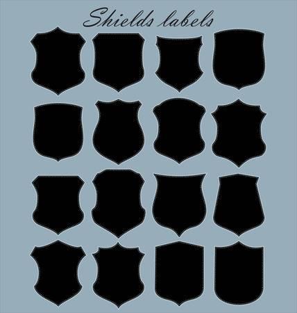 Shields labels - set Vector