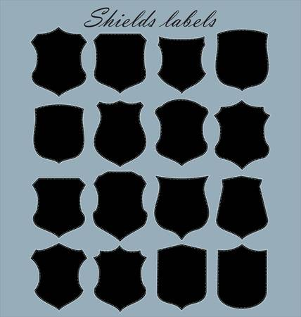 shield logo: Shields labels - set