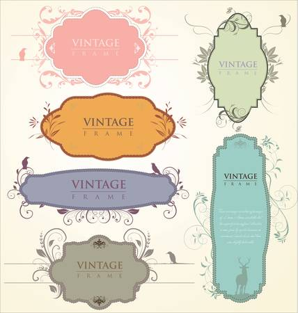 art product: Vintage frames Illustration