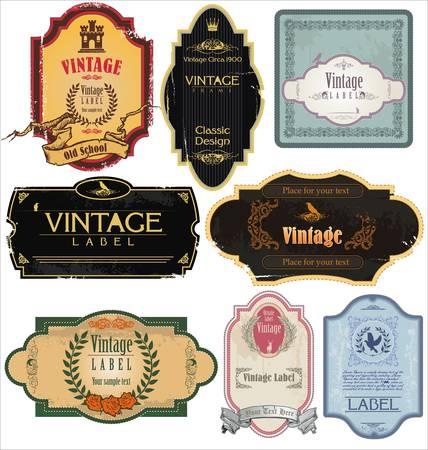 Vintage Collection étiquettes