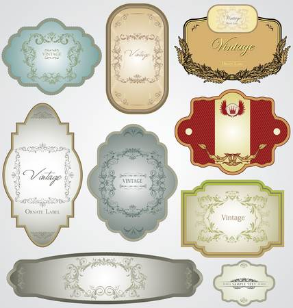 heading: Ornate vintage decorative vector frames with place for text or message
