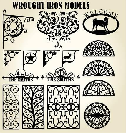 puertas de hierro: Modelos de hierro forjado