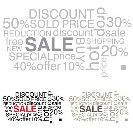 direct sale: SALE. Word collage on white background Illustration