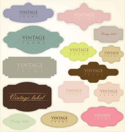 Vintage etiquetas