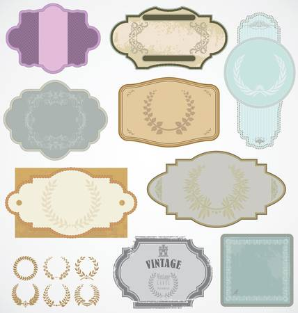 Vintage labels Stock Vector - 12353129