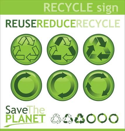 reciclable: Reciclar los signos Vectores