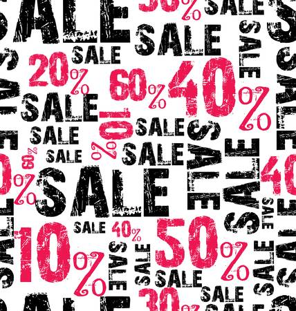 discount poster: seamless sale background Illustration
