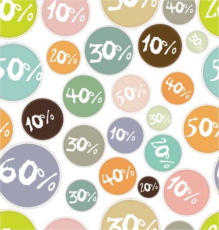 seamless background with percent symbol Vector