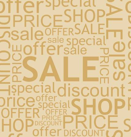 seamless discount background Vector