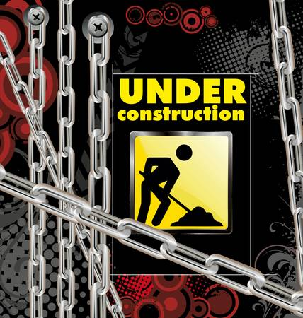 cray: under construction background Illustration