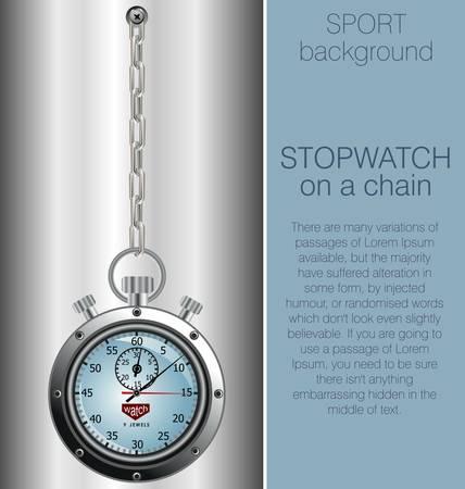 reloj de pendulo: cronómetro en gris y fondo azul degradado