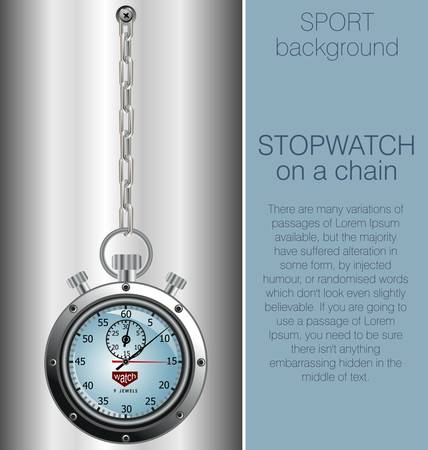 stopwatch on grey and blue gradient background Vector