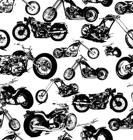 motor race: naadloze retro motor achtergrond Stock Illustratie