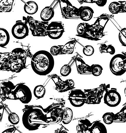 motorcycle: seamless retro motorbike background