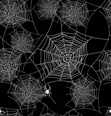 spiders: Seamless web background pattern