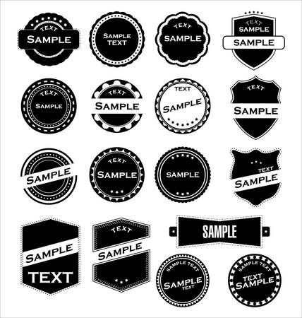 Labels With Retro Design Vector Vector