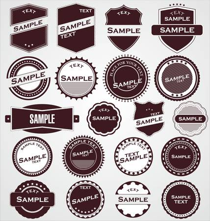 gratification: Labels With Retro Design