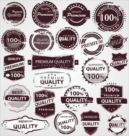 zeehonden: Grunge Vintage Kwaliteitslabels