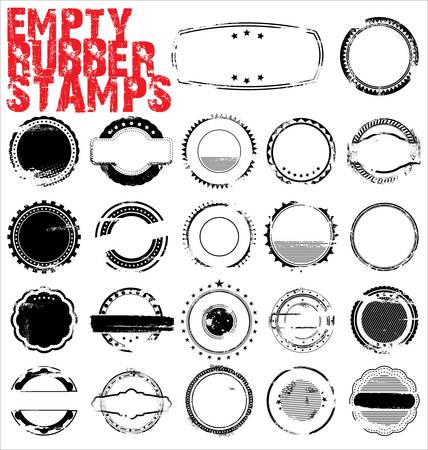 Vides Tampons encreurs Grunge - illustration vectorielle