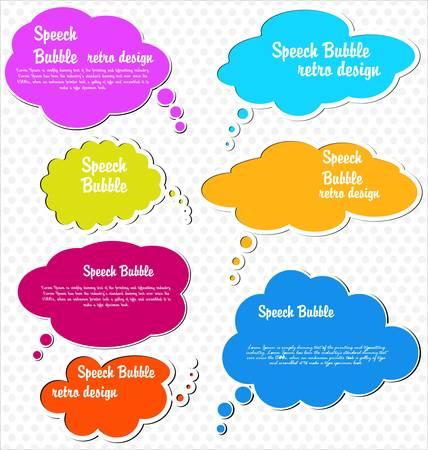 Paper speech bubble Stock Vector - 12353299