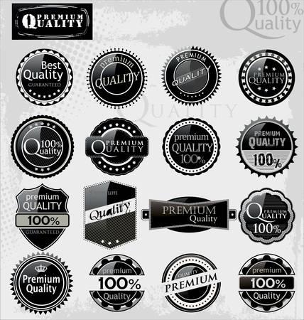 Set of elegant premium quality labels Vector