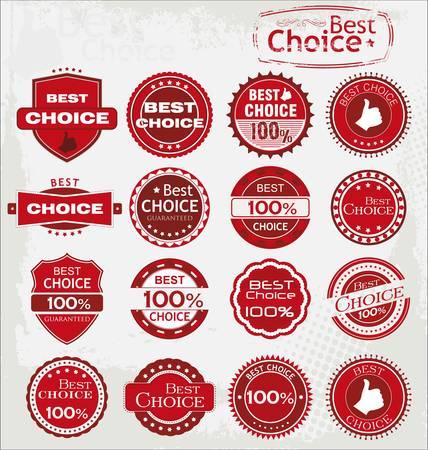 Vector set van de beste keuze iconen