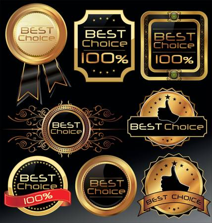 Best choice elegant labels Stock Vector - 12353310
