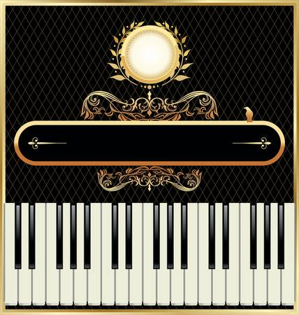 Elegant piano background Vector