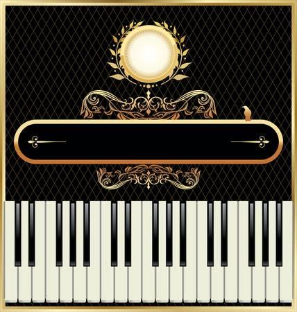 pianista: Elegante piano de fondo Vectores