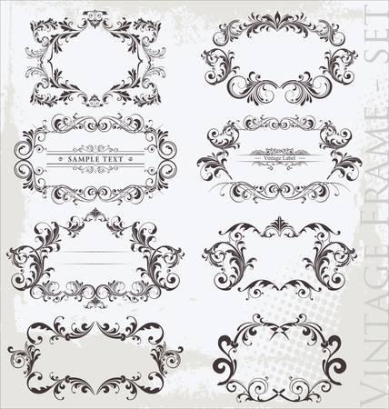 Vintage Frames Stock Vector - 12491480