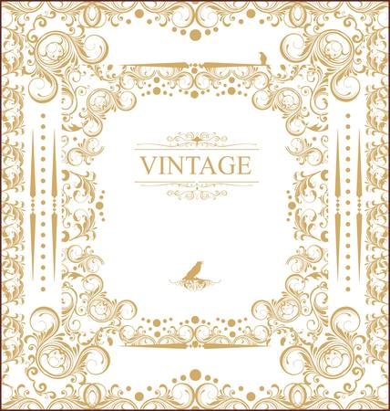 antique fashion: Vintage frame