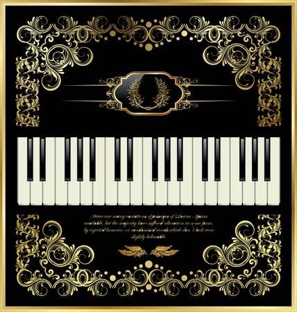 slanted: vector de teclado de piano