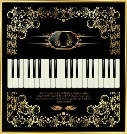 acoustically: vector piano keyboard Illustration
