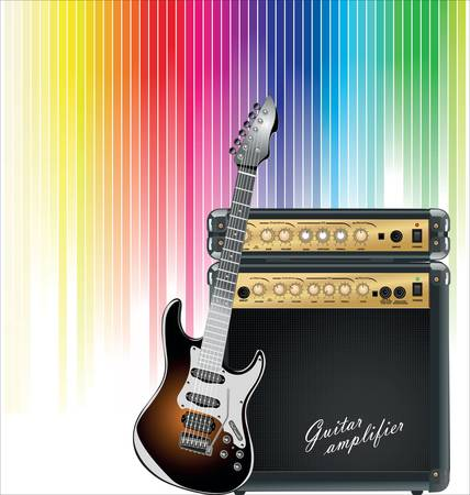 guitar amplifier: Music colorful background