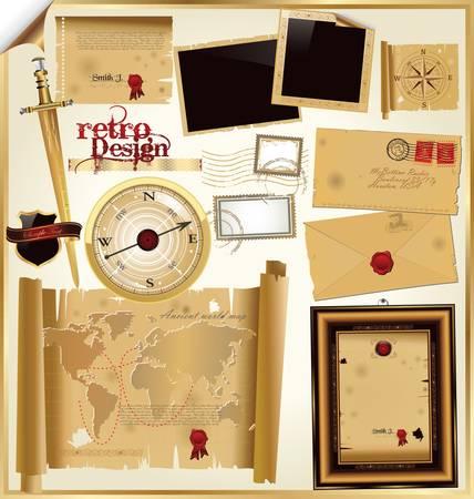 Retro Design-Elemente Vektorgrafik