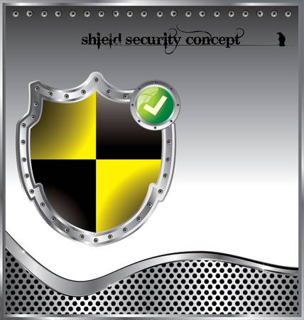 Shield security concept background Stock Vector - 12852073