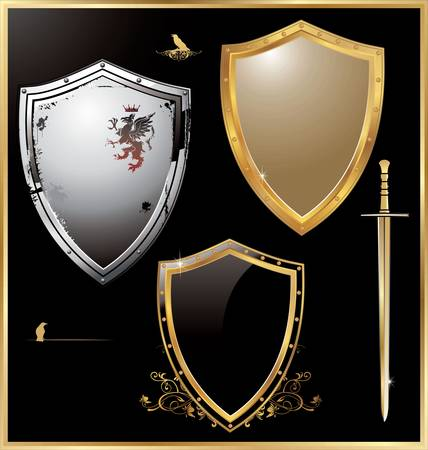 heraldic shield: vector shield design