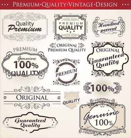 with sets of elements: premium quality vintage design
