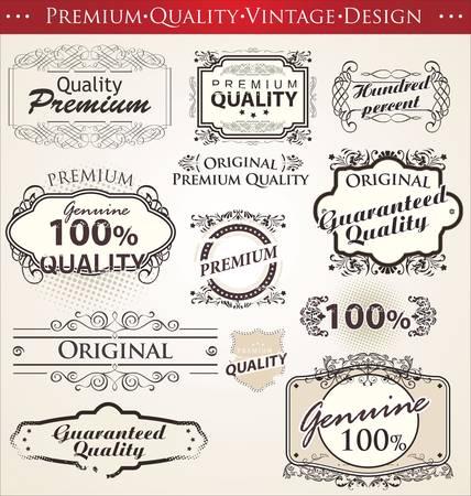 ornamental elements: premium quality vintage design