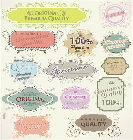 old stamp: Floral frames premium quality