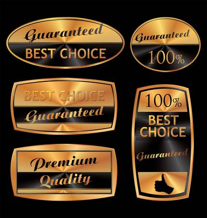 Best choice golden labels Vector