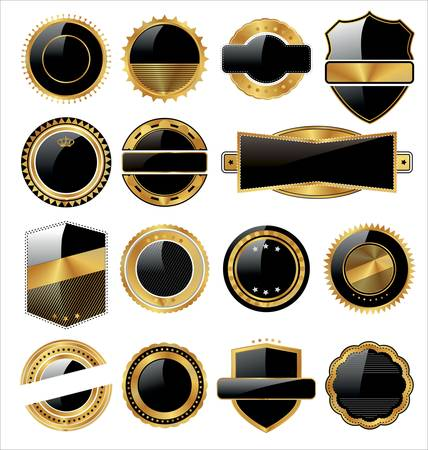 Empty Quality Labels with elegant design Stock Vector - 12868363